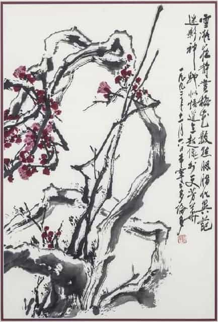 Yu Xining - Untitled (plum tree blossoms)